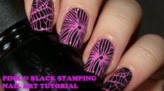 Black & pink nail stamping | Nail art tutorial | Born Pretty Store BP-L015