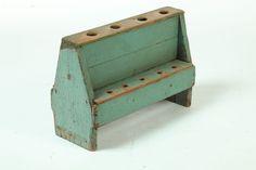 Pine utensil holder, second half 19th C. (Garth's Auctions)