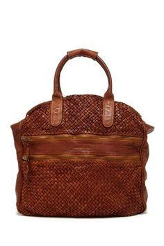 Bruno Magli Cartella Woven Satchel Bag
