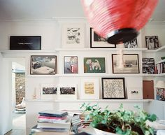 gallery wall + shelves