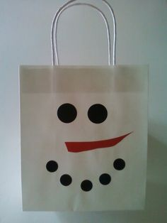 SNOWMAN Gift Bag  Place that Christmas hostess by AnnaliseJDesigns, $2.25