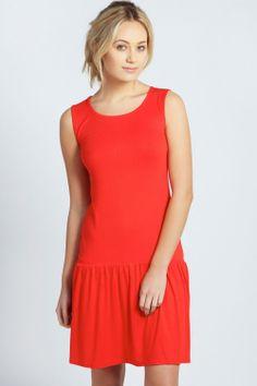 Christina Dropped Waist Dress | simple & comfy