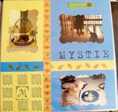 """""""Mystie"""" Pet scrapbook layout 12x12"""