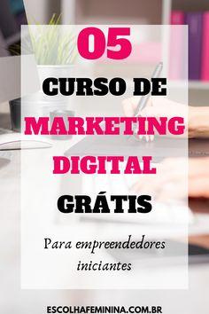 CURSO DE MARKETING DIGITAL - 06 melhors sites com cursos online.
