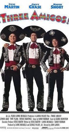 Directed by John Landis.  With Steve Martin, Chevy Chase, Martin Short, Alfonso Arau. Three unemployed actors accept an invitation to a Mexican village to replay their bandit fighter roles, unaware that it is the real thing.