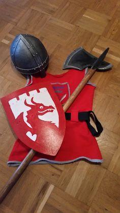 Ausrüstung für kleine Ritter Bauanleitung zum selber bauen Dramatic Play, Knight, Stuff To Do, Halloween Costumes, Bosch, Toys, Children, Cosplay Ideas, Themed Parties