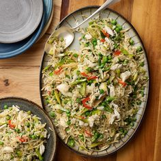 Rice Pilaf with Crab, Leeks, Asparagus and Peas