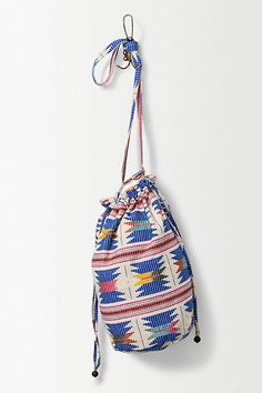Anthropologie EU Aztec Sapphire Bucket Bag