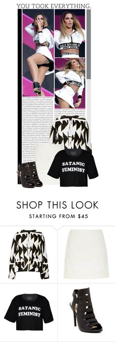 """#1201 (Cheryl Fernandez-Versini)"" by lauren1993 ❤ liked on Polyvore featuring Oris, Thakoon, River Island and GUESS"
