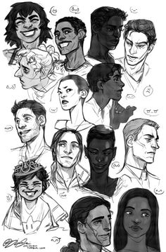 I put some greys and emoticons on my lunch sketches from this week. Didn't have the energy to do anything more exiting than faces.From left to right, top to bottom: Lisp, Martin, Jasper, Jesse, Nima, Tove, Alex, Jona, Aaron, Ester, Jonathan, Silly/Aurora, Gallamore, Khelán. Characters with names in bold belong to xhakhal