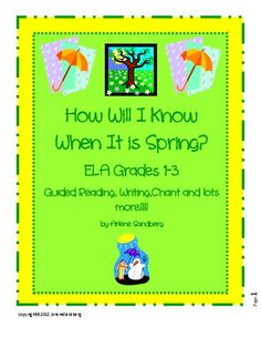 on sale!!!!! Great ELA Thematic Unit for Grades 1-3- Guided Reading Make and Take book, Writing activities, Adjective Finds, and much, much more!!!