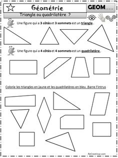 Introduction Classement : polygone / non polygone Mise à jour janvier 2015 : Classer les figures géométriques : Ces grandes étiquettes sont à utiliser pour une recherche collective , elles peuvent être plastifiées et aimantées pour permettre la manipulation au tableau . Un diaporama pour apprendre à trouver le nombre de côtés et de sommets, …