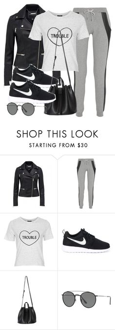 """Untitled #12152"" by vany-alvarado ❤ liked on Polyvore featuring Lot78, Topshop, NIKE and Ray-Ban"