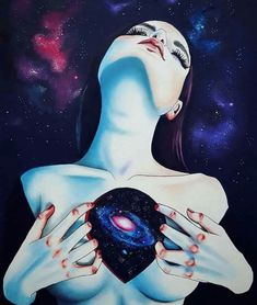 I like how the galaxy seems to be in place of her heart. It is a part of her.