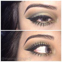 Soft Green Smokey Eyes - #greenshadow #eyemakeup #eyes #eyeshadow #dianalizeth - Bellashoot.com (iPhone, iPad & Web)