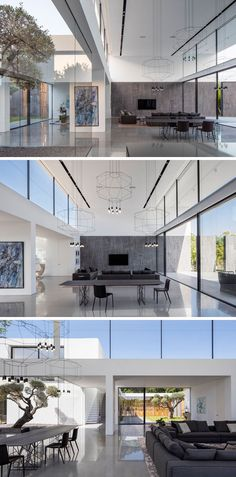 This Minimalist Home Of Double Height Ceilings And Large Windows Is Filled  With Natural Light