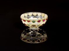 A Mughal style gem-set gold-mounted rock crystal Cup