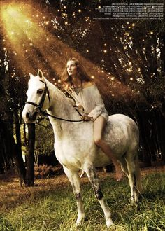 via Divine Bunny. love horse photo shoots. and love white speckled horses