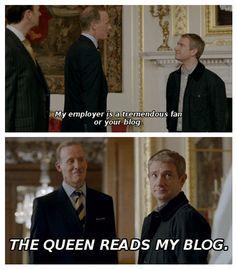 HRH loves Watson's blog