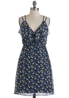 Beguiling Beauty Dress in Blue | Mod Retro Vintage Dresses | ModCloth.com