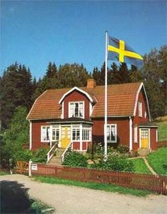 "The childrens books about ""Emil"" and ""pippi longstocking"" by Astrid Lindgren. Katthult is placed 10 km from Mariannelund and about 25 km from Vimmerby. Scandinavian Countries, Scandinavian Home, Kingdom Of Sweden, Sweden House, Red Houses, Sweden Travel, Red Cottage, Swedish Style, Country Life"