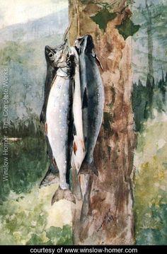 Adirondack Catch - Winslow Homer - www.winslow-homer.com
