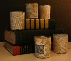 More book page candles!