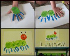 20 bug crafts to make Kinder Basteln Handabdruck Raupe Nimmersatt The post 20 bug crafts to make appeared first on Kinder ideen. Kids Crafts, Bug Crafts, Toddler Crafts, Crafts To Make, Craft Projects, Craft Kids, Project Ideas, Santa Crafts, Welding Projects
