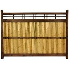 @Overstock.com.com.com - Japanese Bamboo 4x5.5-foot Kumo Fence (China) - Large Japanese bamboo garden fence Kiln-dried wood frame, lacquered over a dark walnut stain Bleached bamboo center panel Ships fully assembled  http://www.overstock.com/Worldstock-Fair-Trade/Japanese-Bamboo-4x5.5-foot-Kumo-Fence-China/6655398/product.html?CID=214117 $358.00