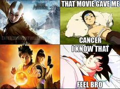 F****d up they used a pic of Goku actually dying of cancer but still funny.