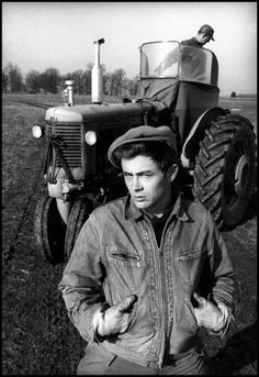 Dennis Stock, James Dean on the farm of his uncle Marcus Winslow, where Jimmy spent his youth, Fairmount, Indiana, 1955