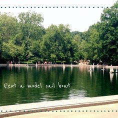 99 things to do in Central Park - Rent a model sail boat