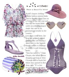 """Totwoo - Enjoying the Beach: 08/08/16"" by pinky-chocolatte ❤ liked on Polyvore featuring Hunter, Las Bayadas, Beauty & The Beach, Brigitte and Wildfox"