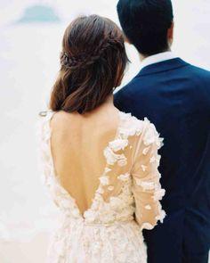 11 Half-Up, Half-Down Wedding Hairstyles We Love   Martha Stewart Weddings