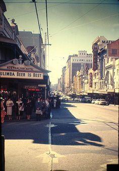 Australia  1959  corner Queen St. - Albert St.  Brisbane by pizzodisevo, via Flickr