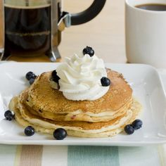Favorite Blueberry Pancakes Recipe | http://aol.it/1ml4rO3 By @Rebekah Ahn Hubbard, PDXfoodlove