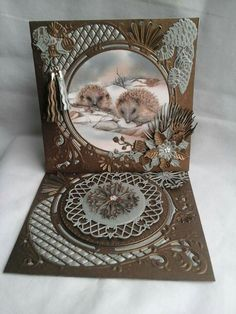 Marianne Design Cards, Paper Ribbon, Shaped Cards, Die Cut Cards, Winter Cards, Sympathy Cards, Craft Work, Cool Cards, Vintage Cards