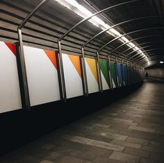 #tunnel #underground #train #color #aesthetic #grunge #color #rainbow