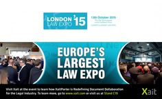 Xait will be exhibiting at the London Law Expo 2015