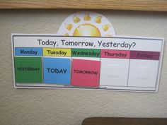 Good for teaching little ones about week days.