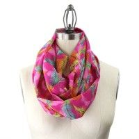 Hot pink tribal inspired infinity scarf   9thandelm