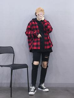 마리쉬♥패션 트렌드북! Boyish Outfits, Moda Outfits, Kpop Outfits, Korean Outfits, New Outfits, Girl Outfits, Casual Outfits, Cute Outfits, Fashion Outfits