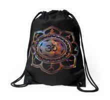 Om Lotus Flower Yoga Poses printed Drawstring Bag and more.