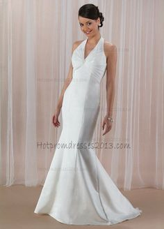 White Ruffles and Beading V-Neck Open Back Long Prom Dresses http://www.hotpromdresses2013.com