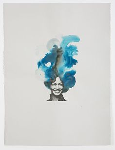 LORNA SIMPSON Blue Brown, 2013 Collage and ink on paper 29 1/2 × 21 3/4 in 74.9 × 55.2 cm Via Artsy