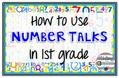 Number Talks in First Grade, Sliding into First!, math talks, number talks, addition, subtraction, 1st grade, freebie, math
