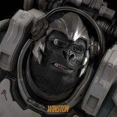 ArtStation - Winston : Overwatch Fan Art, Namju Kim