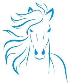 Wandtattoo Pferd 24 x 30 von mldigitaldesign