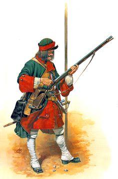 Russia; Pikeman Smolensk Infantry Regiment 1715