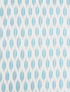 "Spice Market, Aquamarine 100% Cotton""Spice Market, Aquamarine"" An ikat inspired dot coordinate in aqua-turquoise blue with grey on cream from the ""Hide and Souk"" collection by Braemore."
